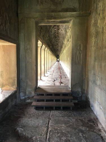 Angkor Wat temple corridor photograph