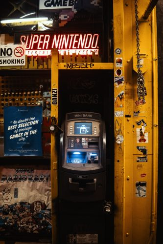 photo of ATM machine