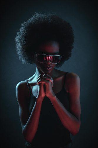 Black women in futuristic outfits